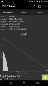 DVB-T Finder - szczegóły nadajnika