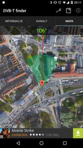 DVB-T Finder - mapa
