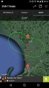 DVB-T Finder - charakterystyka promieniowania nadajnika kierunkowego