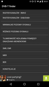 DVB-T finder - książka referencyjna