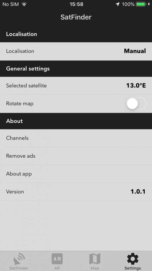 Satfinder dla iOS – esys